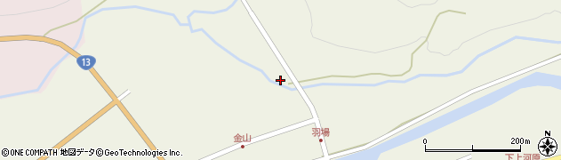 山形県最上郡金山町金山854周辺の地図