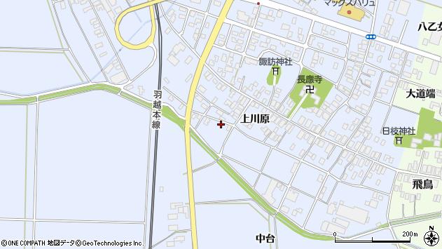 山形県酒田市砂越上川原56周辺の地図