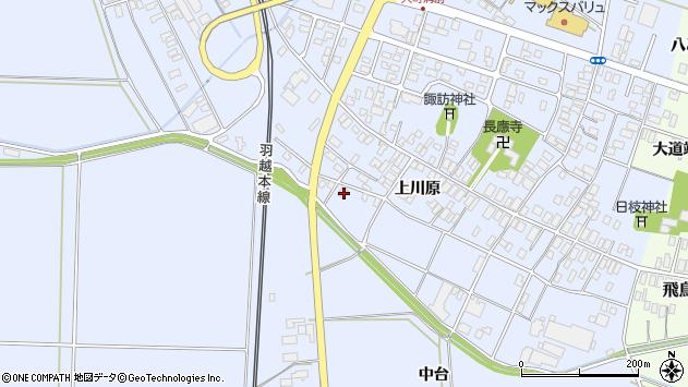 山形県酒田市砂越上川原556周辺の地図