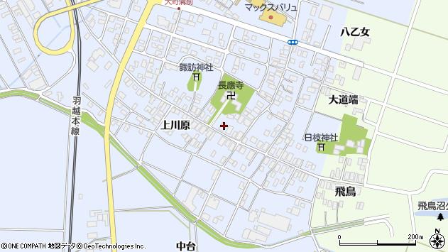 山形県酒田市砂越楯之内215周辺の地図
