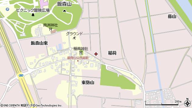 山形県酒田市坂野辺新田稲荷周辺の地図