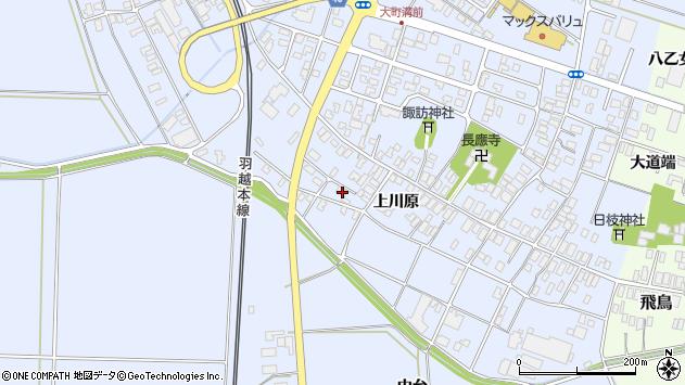 山形県酒田市砂越上川原533周辺の地図