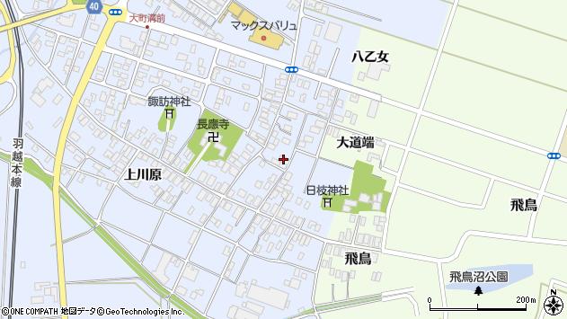 山形県酒田市砂越楯之内110周辺の地図
