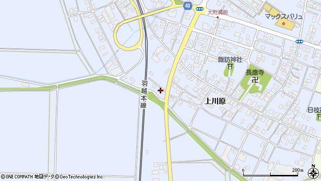 山形県酒田市砂越上川原546周辺の地図