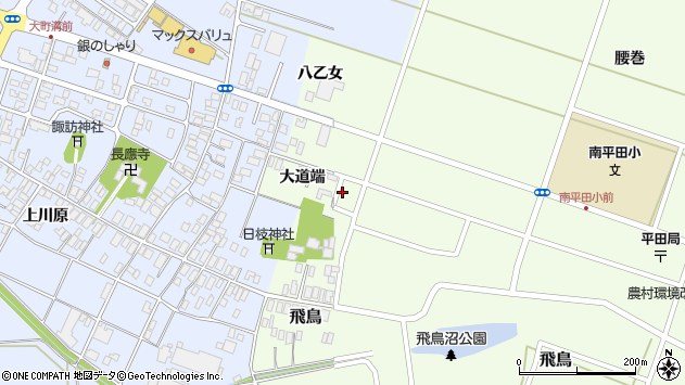 山形県酒田市飛鳥大道端243周辺の地図