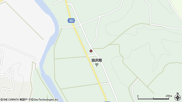 山形県酒田市田沢寺ノ下54周辺の地図