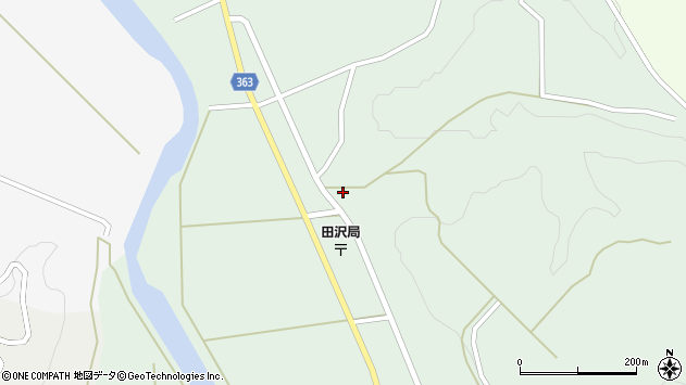 山形県酒田市田沢長根209周辺の地図