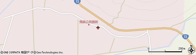 山形県最上郡金山町飛森42周辺の地図