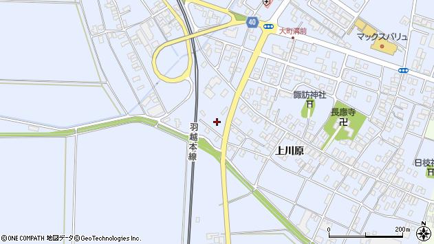 山形県酒田市砂越上川原543周辺の地図