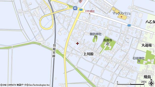 山形県酒田市砂越上川原90周辺の地図