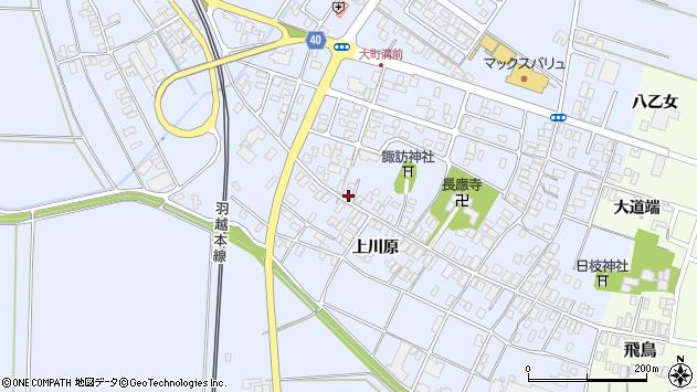 山形県酒田市砂越楯之内169周辺の地図