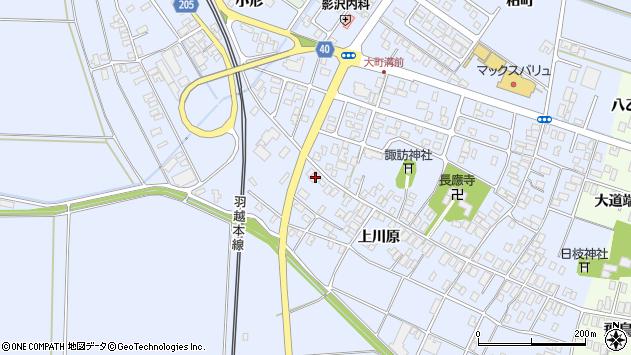 山形県酒田市砂越上川原94周辺の地図