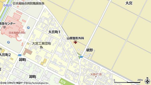 山形県酒田市大宮一貫野82周辺の地図
