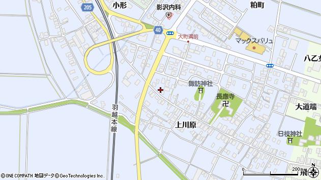 山形県酒田市砂越楯之内172周辺の地図