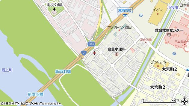 山形県酒田市あきほ町664周辺の地図