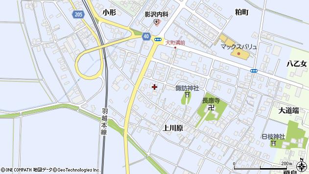 山形県酒田市砂越楯之内171周辺の地図