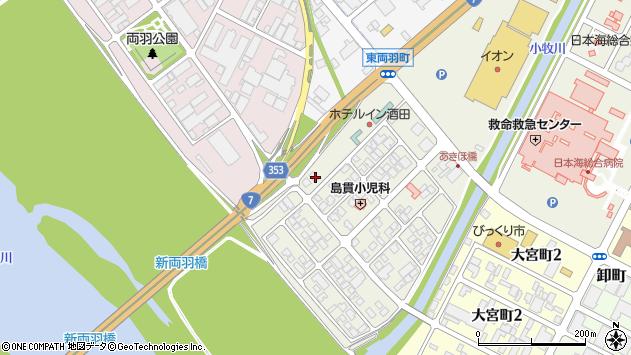 山形県酒田市あきほ町656周辺の地図