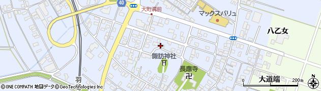 山形県酒田市砂越周辺の地図