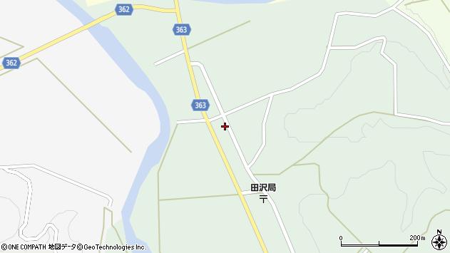 山形県酒田市田沢長根下周辺の地図