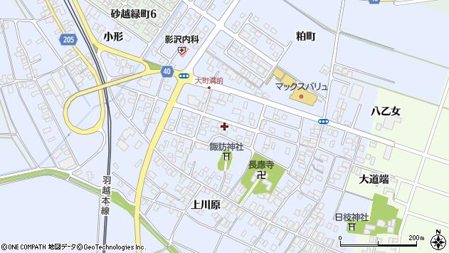 山形県酒田市砂越楯之内76周辺の地図