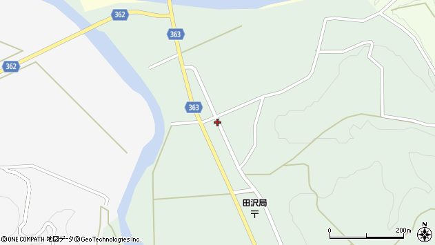 山形県酒田市田沢長根下5周辺の地図