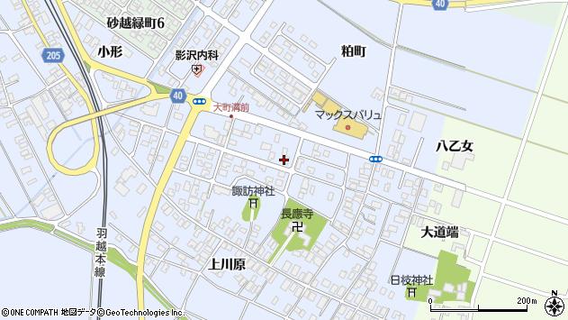 山形県酒田市砂越楯之内43周辺の地図