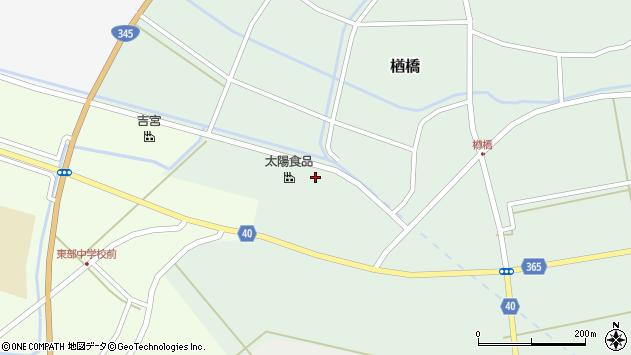 山形県酒田市楢橋大林152周辺の地図