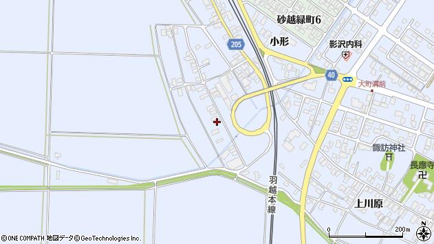 山形県酒田市砂越上川原433周辺の地図