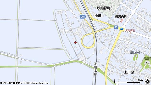 山形県酒田市砂越上川原434周辺の地図