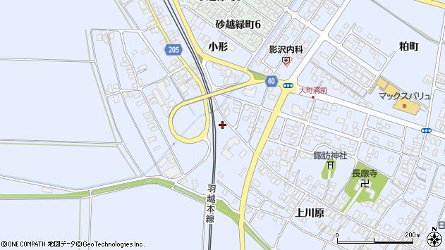 山形県酒田市砂越上川原500周辺の地図