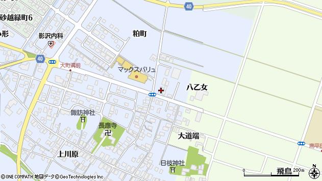 山形県酒田市砂越粕町28周辺の地図