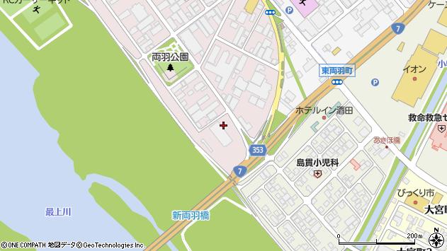 山形県酒田市両羽町12周辺の地図