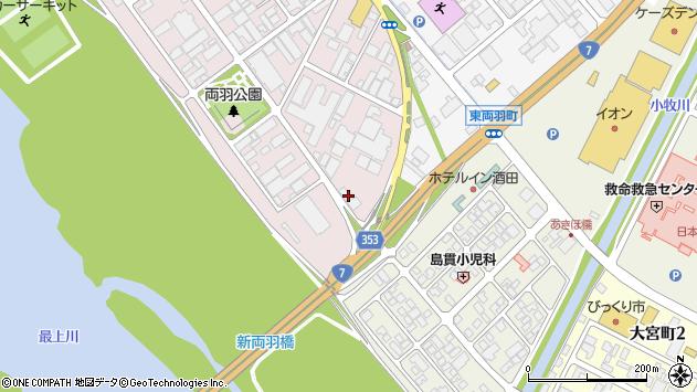 山形県酒田市両羽町13周辺の地図