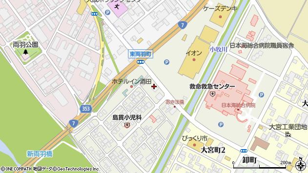 山形県酒田市あきほ町651周辺の地図