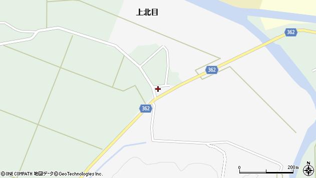 山形県酒田市上北目中田34周辺の地図