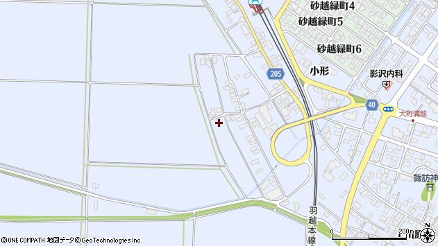 山形県酒田市砂越上川原141周辺の地図
