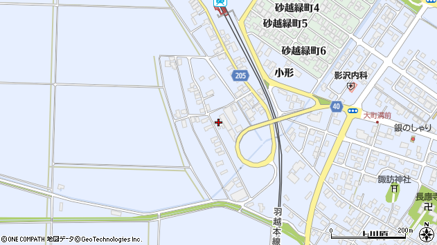 山形県酒田市砂越上川原440周辺の地図