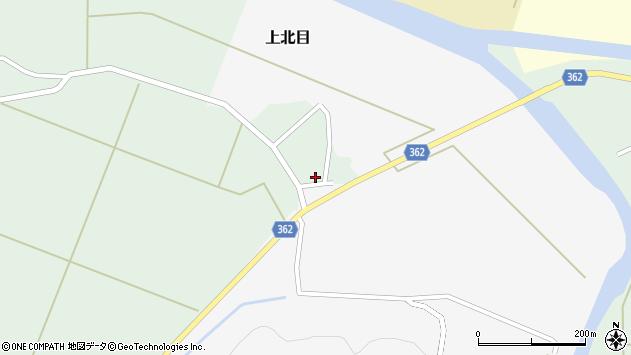 山形県酒田市上北目谷地田5周辺の地図