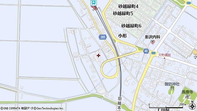 山形県酒田市砂越上川原168周辺の地図