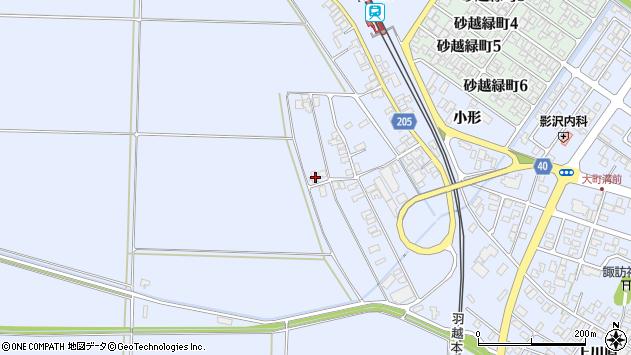 山形県酒田市砂越上川原235周辺の地図