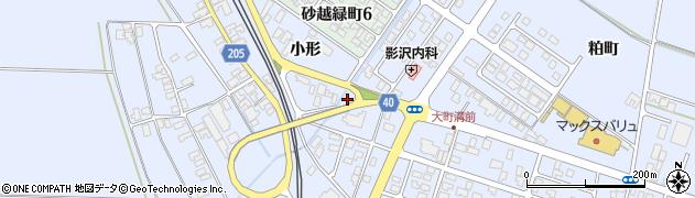 山形県酒田市砂越小形64周辺の地図