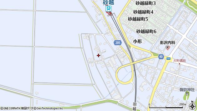 山形県酒田市砂越上川原330周辺の地図