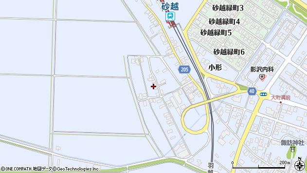 山形県酒田市砂越上川原333周辺の地図