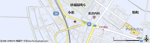 山形県酒田市砂越小形123周辺の地図
