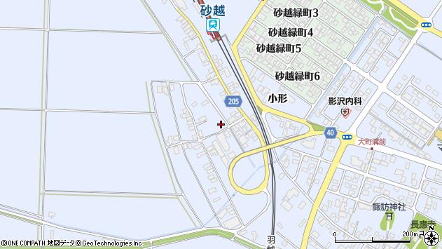 山形県酒田市砂越上川原288周辺の地図