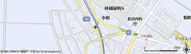 山形県酒田市砂越小形132周辺の地図