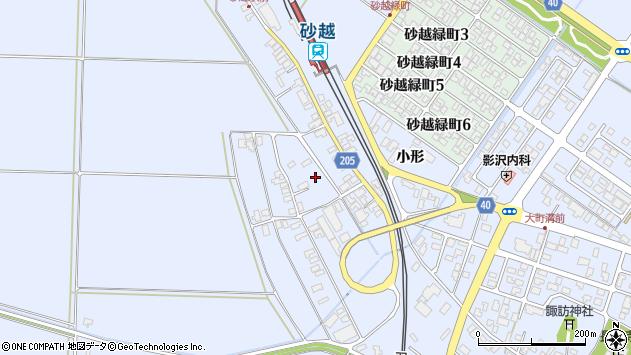 山形県酒田市砂越上川原300周辺の地図