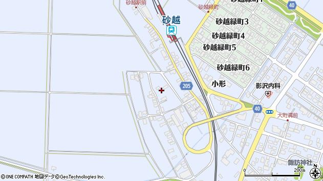 山形県酒田市砂越上川原308周辺の地図