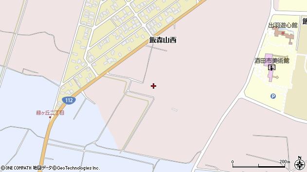 山形県酒田市宮野浦飯森山西周辺の地図
