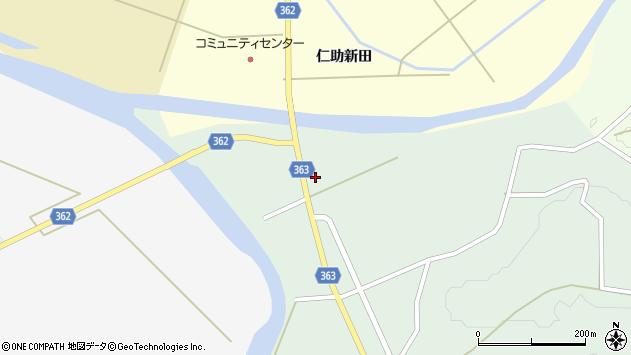 山形県酒田市田沢赤田淵21周辺の地図